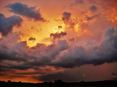 Photograph - Rose Colored Supercell by Ed Sweeney