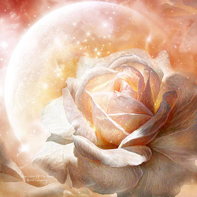 Mixed Media - Rose - Colors Of The Moon by Carol Cavalaris