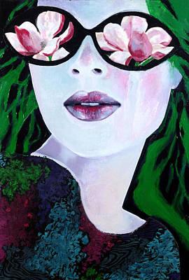 Mixed Media - Rose Coloured Glassesii by Diane Fine