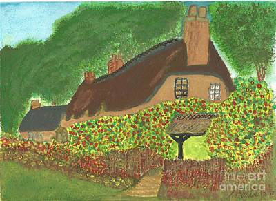 Rose Cottage Art Print