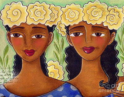 Painting - Rose Crown Sisiters by Elaine Jackson