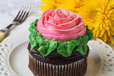 Rose Cupcake Art Print by Garry Gay