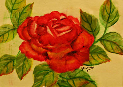 Painting - Rose by Dina Jacobs