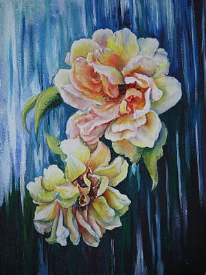 Painting - Rose Duo by Mary Beglau Wykes