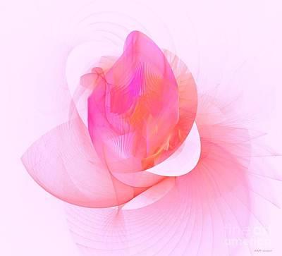 Symbolic Patterns Digital Art - Rose by Elizabeth McTaggart