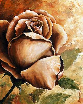 Earth Colors Painting - Rose by Emerico Imre Toth