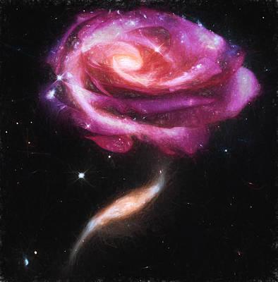Rose Galaxies Art Print