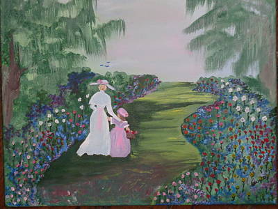 With Scripture Painting - Rose Garden by Carol  Lynn Bronte