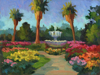 Rose Garden Art Print by Diane McClary
