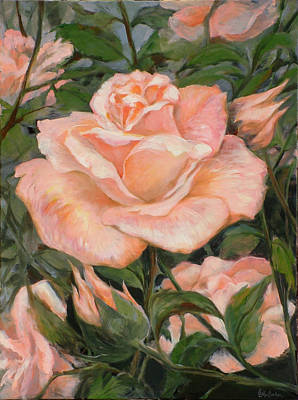 Painting - Rose Garden by Ekaterina Mortensen