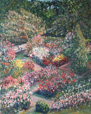 Rose Garden Art Print by Quin Sweetman