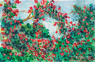 Painting - Rose Garden by Walt Brodis