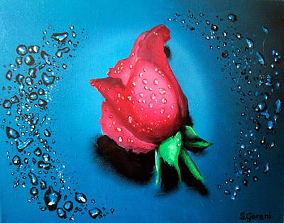 Art Print featuring the painting Rose by Geni Gorani