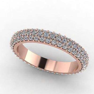 Morganite Jewelry - Rose Gold Diamond Eternity Band by Eternity Collection