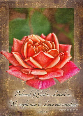Photograph - Rose Greeting Card With Verse by Debbie Portwood
