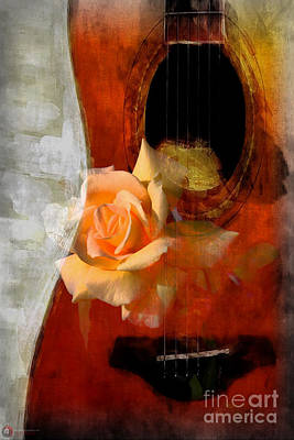 Photograph - Rose Guitar by Rob Heath