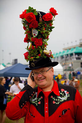 Photograph - Rose Hat At Kentucky Derby  by John McGraw