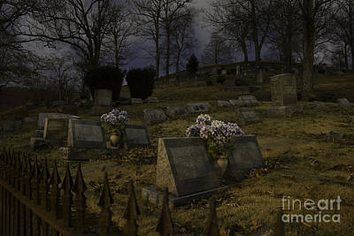 Photograph - Rose Hill Cemetery At Night by Jeannette Hunt