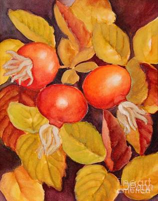 Painting - Rose Hips by Inese Poga