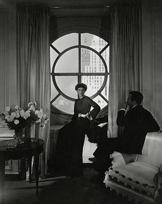 Curtains Photograph - Rose Hobart Standing By A Window by Edward Steichen