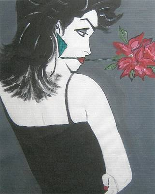 Art Print featuring the painting Rose Lady by Nora Shepley