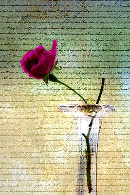 Photograph - Rose Letters Of Love by Marie Jamieson