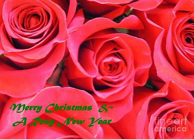 Photograph - Rose Lovers Christmas Card by Barbie Corbett-Newmin