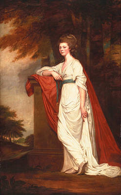 Gown Painting - Rose Milles, 1780-83 by George Romney