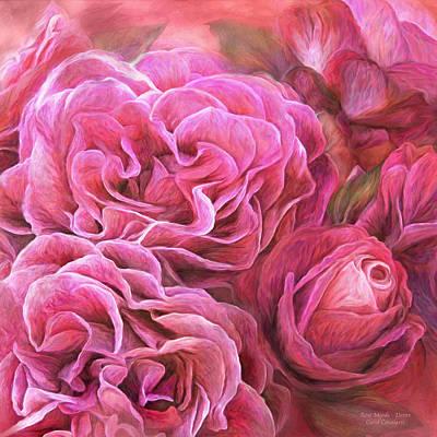 Coral Mixed Media - Rose Moods - Desire by Carol Cavalaris