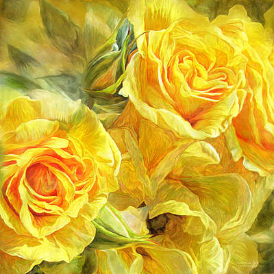 Mixed Media - Rose Moods - Joy by Carol Cavalaris