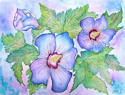 Painting - Rose Of Sharon Hibiscus by Janet Immordino
