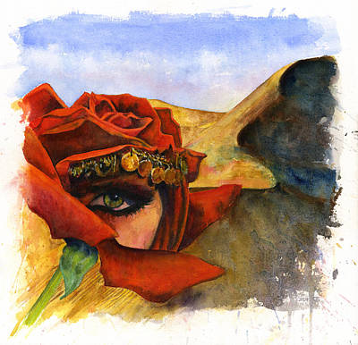 Painting - Rose Of The Maranjab by John D Benson