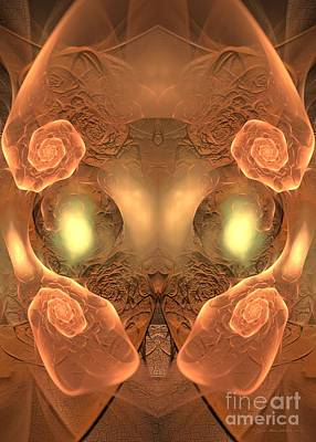 Digital Art - Rose Of The Root Of Jesse - Surrealism by Sipo Liimatainen