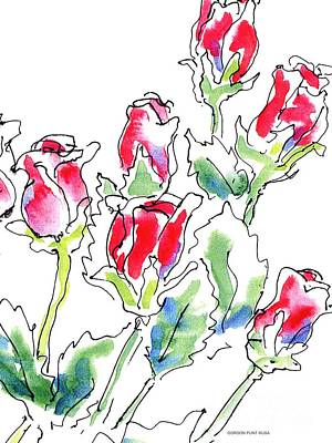 Watercolor Flower Painting - Rose Paintings 7 by Gordon Punt