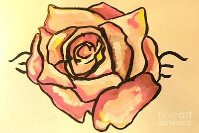 Painting - Rose Pink by Marisela Mungia