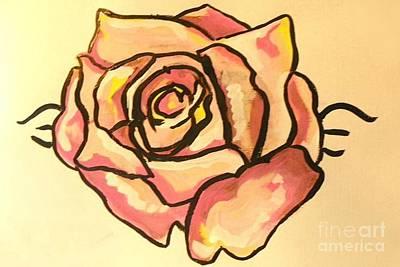 Painting - Rose Pink by Marisela Mungia