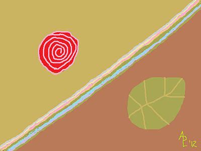 Painting - Rose Poem 1 Interpretation Of A Rose by Anita Dale Livaditis