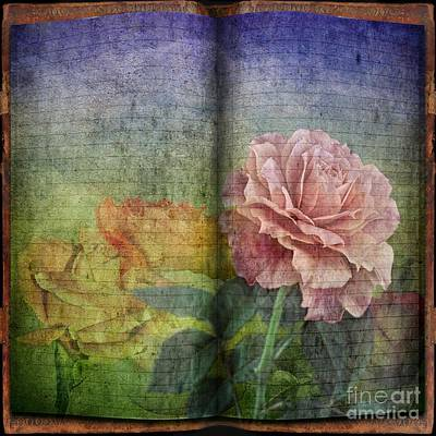 Art Print featuring the digital art Rose Poem by Shirley Mangini