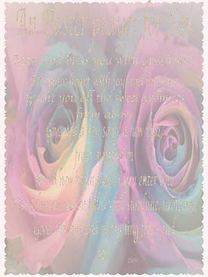 Photograph - Rose Rainbow Easter Card by Debra     Vatalaro