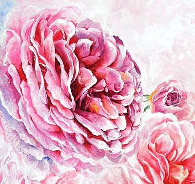 Rose Reflection 2 Art Print by Sandra Phryce-Jones