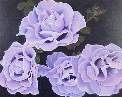 Rose Ripples Art Print by Vicki Watson