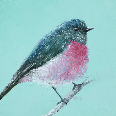 Australian Native Painting - Rose Robin by Jan Matson