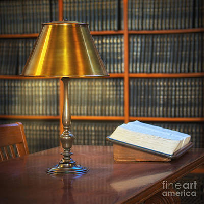 Library Digital Art - Rose Room Lamp by Jerry Fornarotto