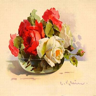 Painting - Rose Still Life by Florene Welebny