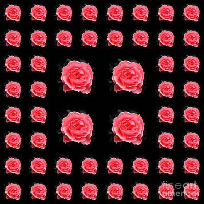 Photograph - Rose Tiles by Barbara Moignard