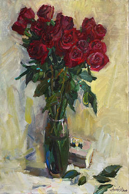 Painting - Rose To The Birthday by Juliya Zhukova