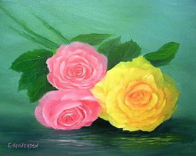 Painting - Rose Trio by Francine Henderson