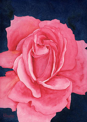 Watercolour Painting - Rose Two by Ken Powers