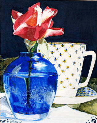 Painting - Rose by Vera Lysenko