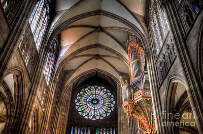 Cathedral Photograph - Rose Window Of Strasbourg Cathedral by Oscar Gutierrez